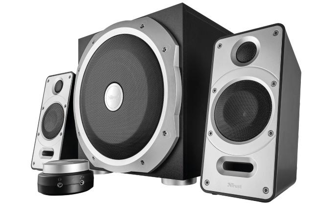 TRUST Reproduktory 2.1 Byron Speaker Set - black/sliver