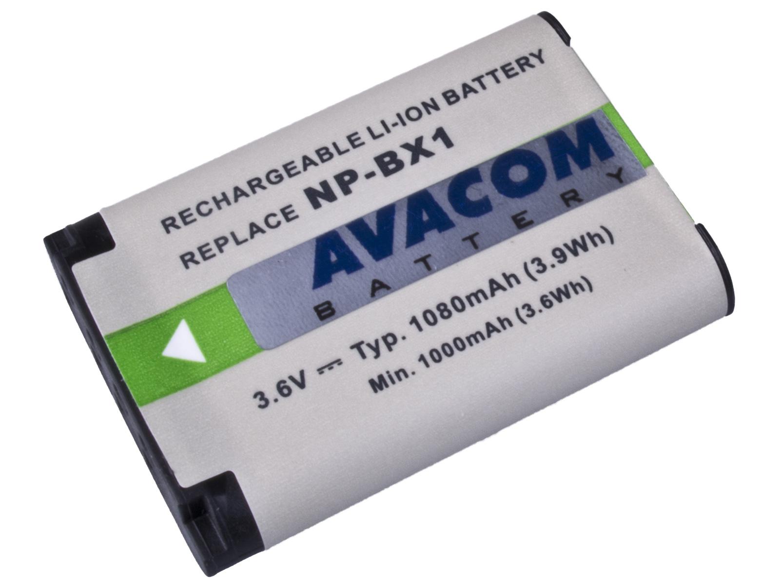 Náhradní baterie AVACOM Sony NP-BX1 Li-ion 3.6V 1080mAh 3.9Wh verze 2012