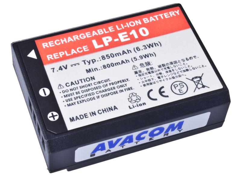 Baterie AVACOM Canon LP-E10 Li-Ion 7.4V 850mAh