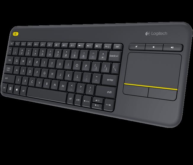 Logitech klávesnice Wireless Keyboard K400 Plus, CZ, unifying přijímač, černá