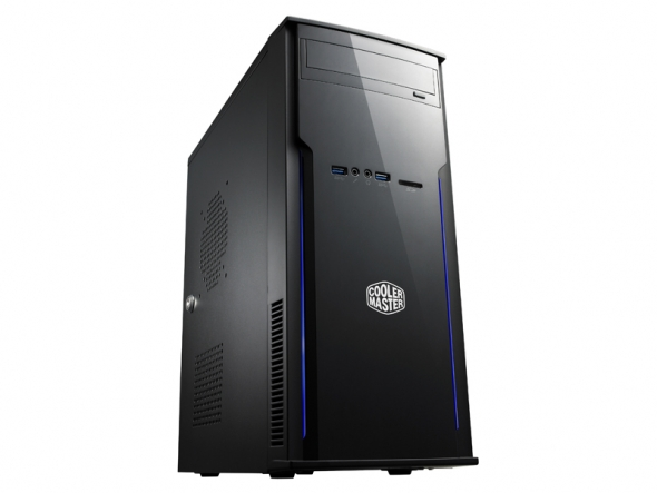 CoolerMaster case minitower Elite 241, ATX, black, USB3.0, bez zdroje