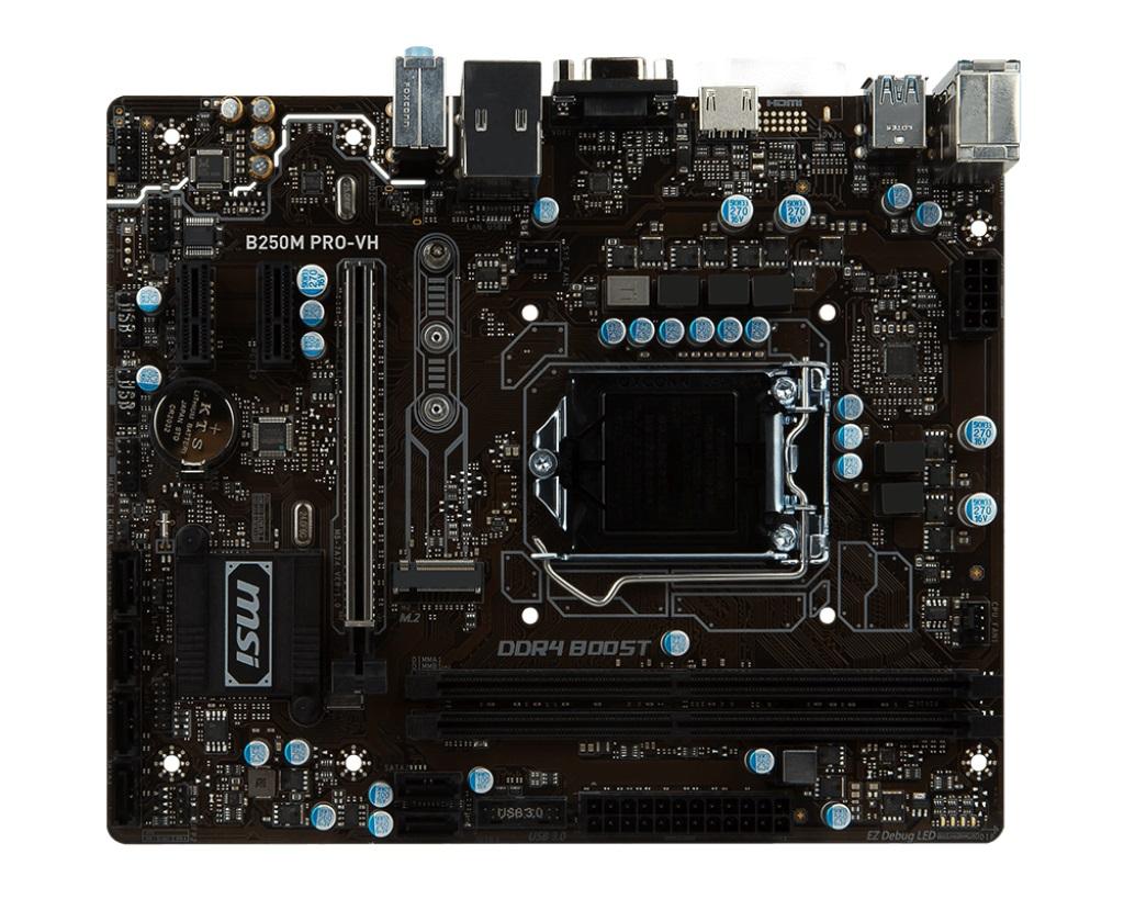 MSI B250M PRO-VH 1151, DDR4, 2x PCI-E x1, 6x SATAIII, HDMI, D-Sub, uATX