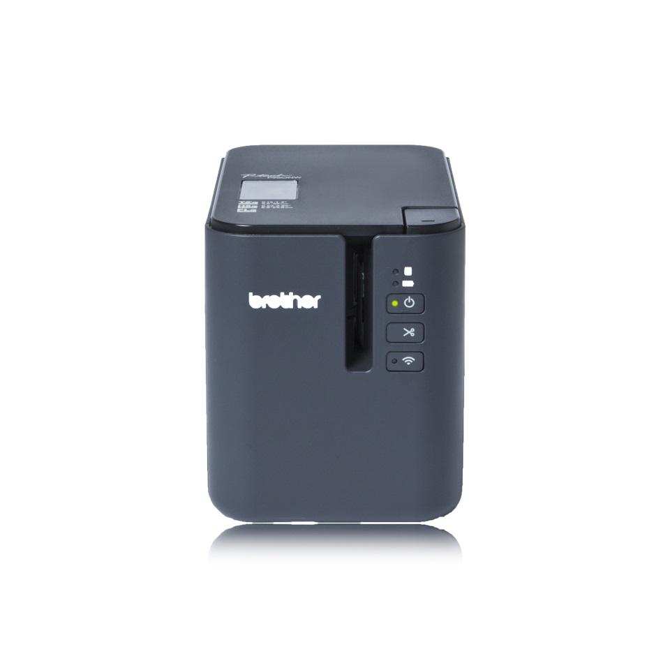 Brother PT-P950NW, tiskárna samolepících štítků, USB, ethernet, WiFi, sériový port, připojitelná k PC