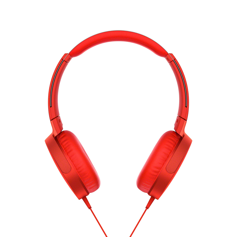 SONY MDRX-B550AP Sluchátka EXTRA BASS & DJ type - headband - Red