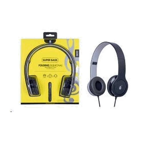 PLUS stereo sluchátka skládací EB202, 3,5 mm jack, šedá