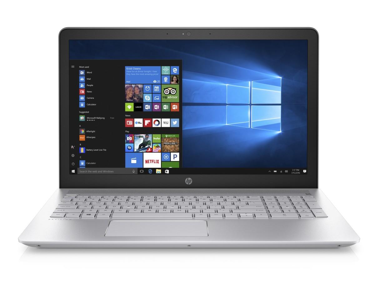 """HP Pavilion 15-cc510nc/Intel i7-7500U/8GB/256GB SSD M.2 + 1TB/GF 940MX 4GB/15,6"""" FHD/Win 10/stříbrná"""