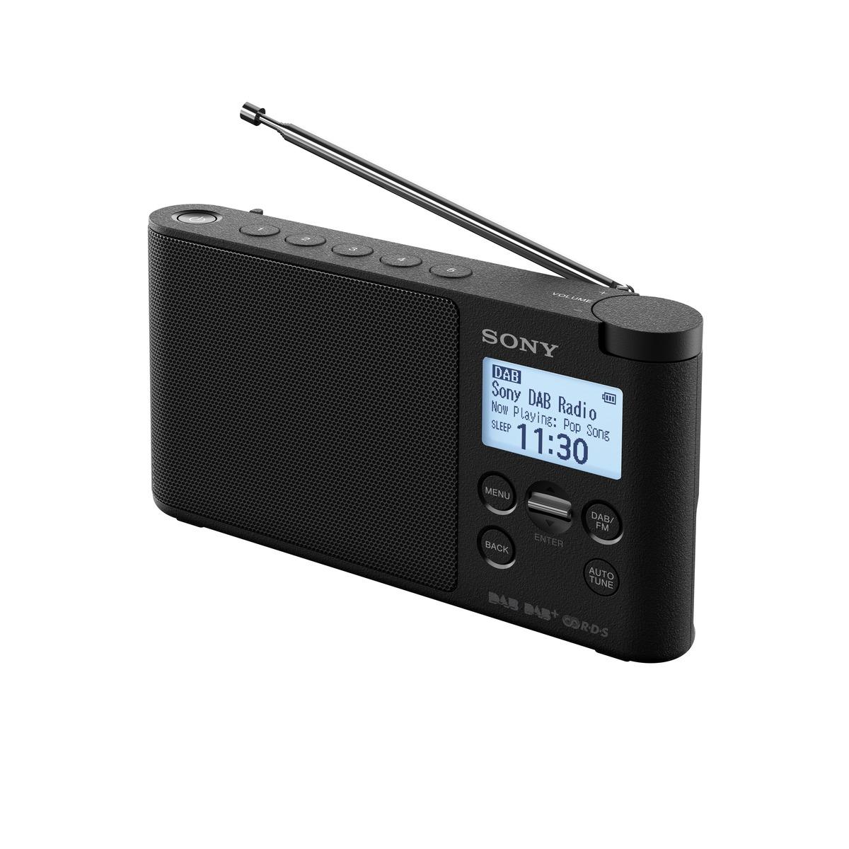 SONY XDR-S41DB Lehké a přenosné DAB/DAB+/FM rádio Black
