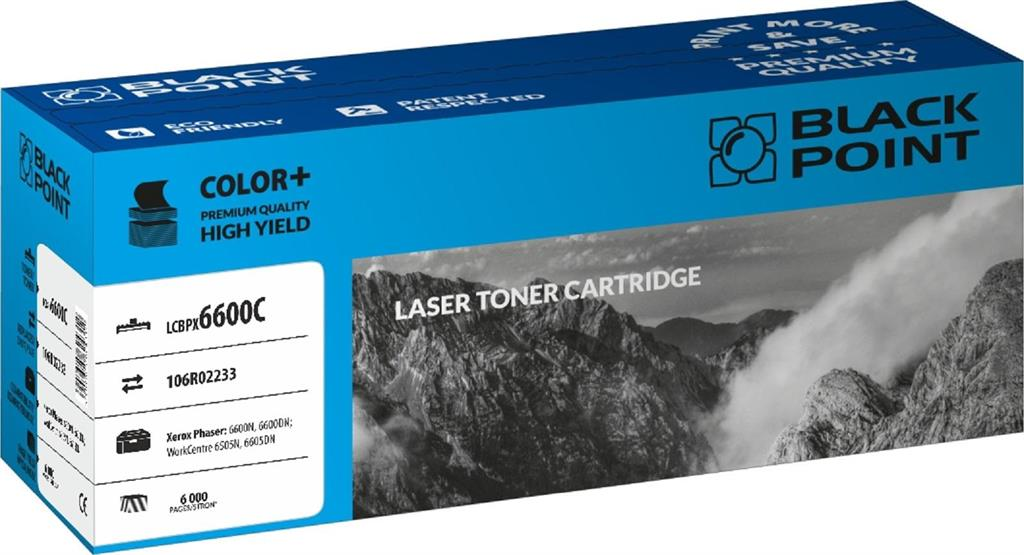 Toner Black Point LCBPX6600C | cyan | 6 000 pp | Xerox 6600N / 6600DN / 6605N