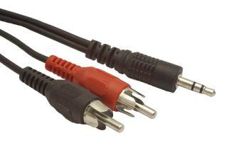 Gembird kabel audio JACK 3,5mm samec / 2x RCA (CINCH) samec 2.5M