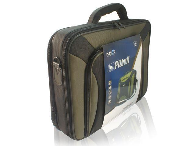 Natec PITBULL brašna pro notebook 17.0'', olivově černá + pouzdro na CD/DVD