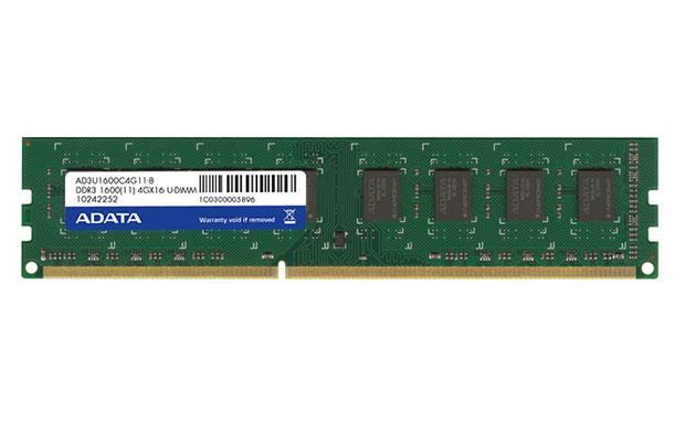 ADATA 2x4GB 1600MHz DDR3 CL11 DIMM 1.5 V