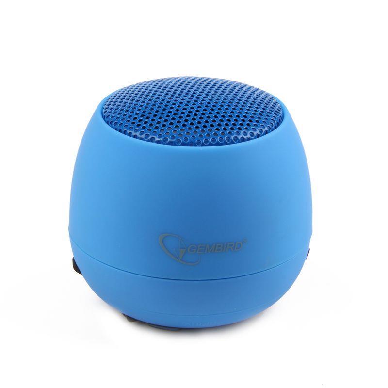 Gembird přenosné reproduktory (iPod, MP3 přehrávač, telefon, laptop), modré