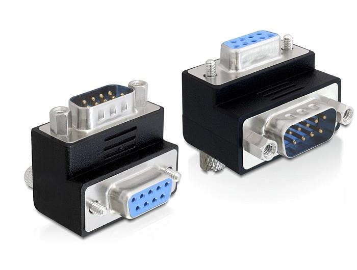Delock Adapter Sub-D 9 pin male > female 90° angled