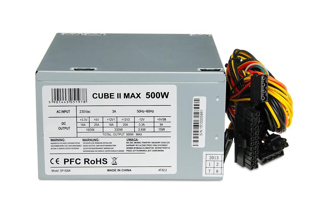 PC zdroj I-BOX CUBE II ATX 500W 12 CM FAN