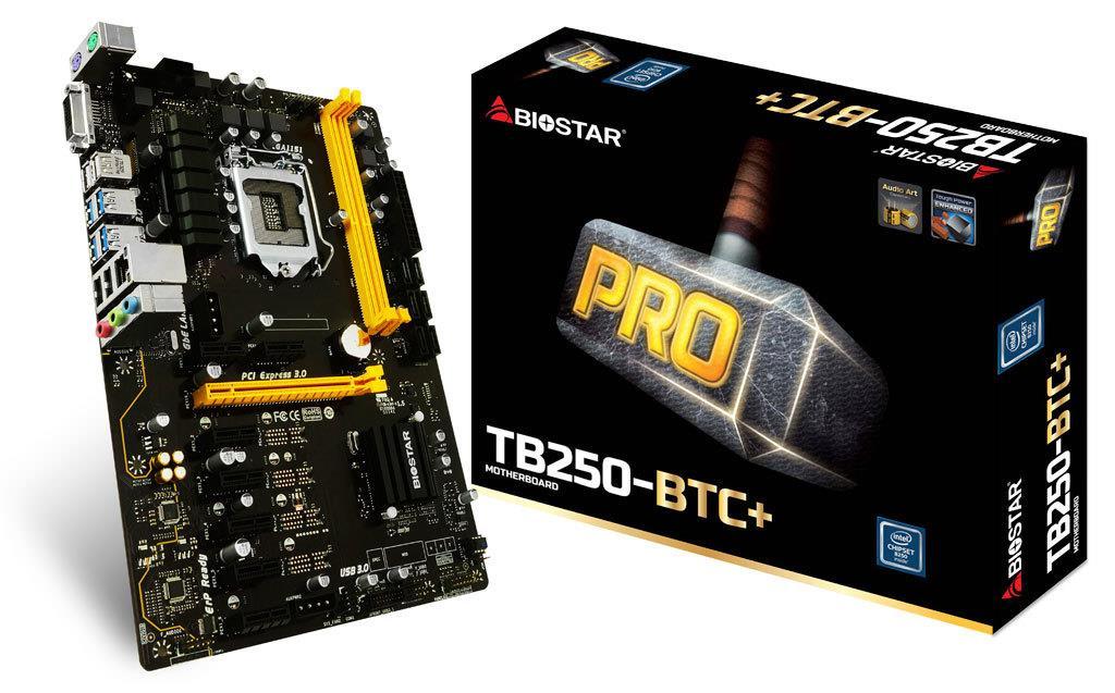 Biostar TB250-BTC+, LGA 1151 Intel B250 SATA 6Gb/s USB 3.0