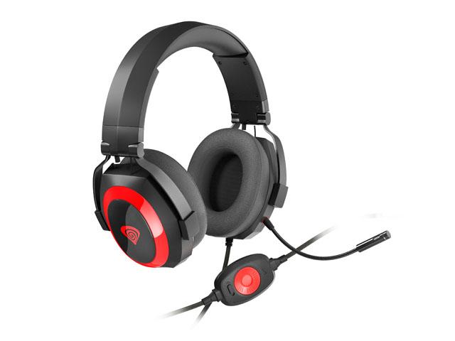 Herní stereo sluchátka Genesis Argon 500,černo-červené, 53mm měniče