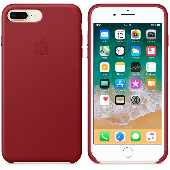 iPhone 8 Plus / 7 Plus Leather Case - (PRODUCT)RED