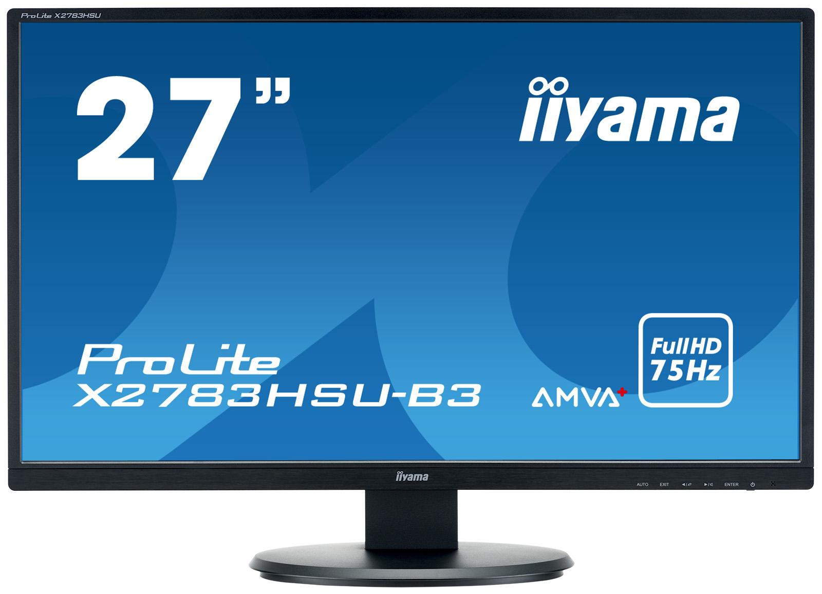 Iiyama LCD X2783HSU 27'' LED, AMVA+, 4ms, VGA/HDMI, USB, repro, 1920x1080, č