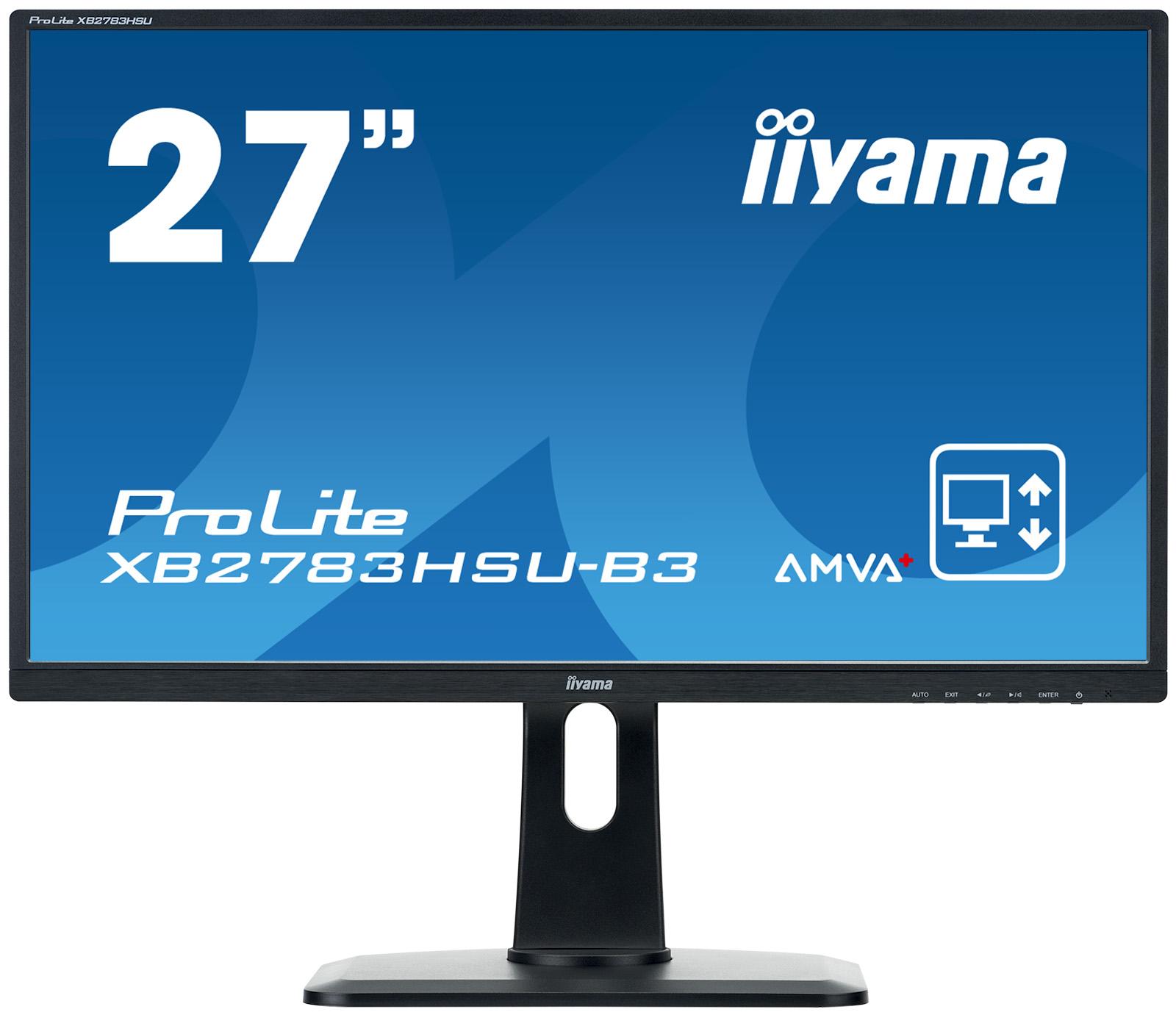 "27"" LCD iiyama XB2783HSU-B3 -AMVA+,4ms,300cd/m2,3000:1,FHD,VGA,DVI,HDMI,USB,repro,pivot,výšk.nastav."
