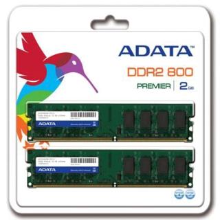 ADATA 2x1GB DDR2 800MHz CL5 DIMM 1.8V, retail