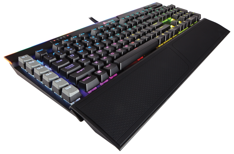 Corsair mechanická herní klávesnice K95 RGB PLATINUM, Cherry MX Brown, černá, US