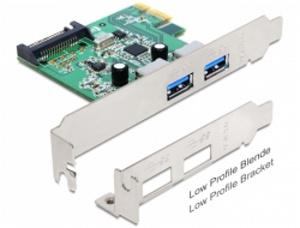 Delock PCI Express karta > 2 x USB 3.0 +low profile