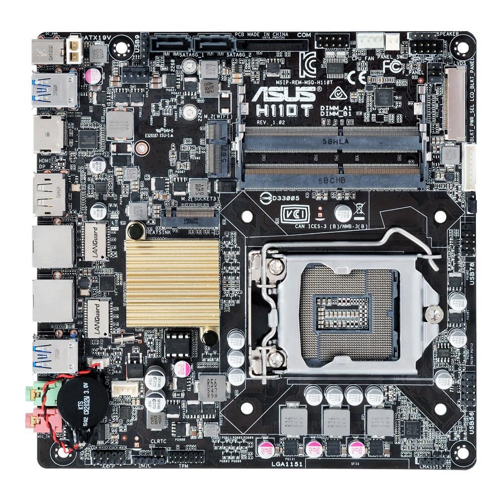 ASUS H110T, H110, DDR4-2133, SATA3, M.2, HDMI, DP, mITX