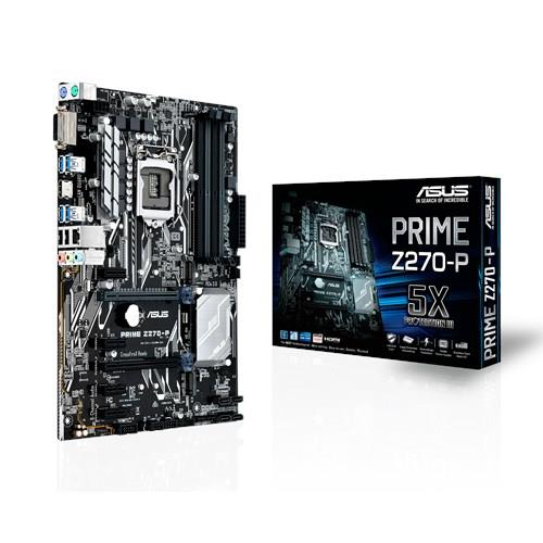 ASUS PRIME Z270-P, Z270, LGA1151, ATX, 4x4DDR4, dual M.2, SATA 6Gb/s, HDMI