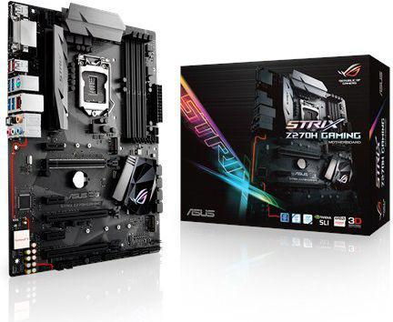ASUS STRIX Z270H GAMING, Z270, LGA1151, ATX, Dual M.2, SATA 6Gb/s, 2xUSB 3.1