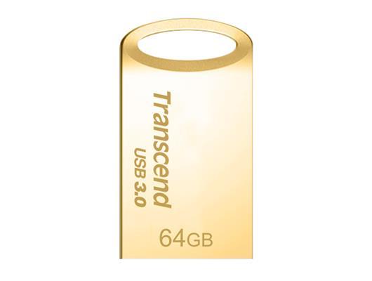 Transcend JetFlash 710 flashdisk 64GB, USB 3.0, pozlacený