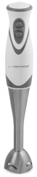 Esperanza EKM002E FRULLATO tyčový mixér, nerezový, bílo-šedý