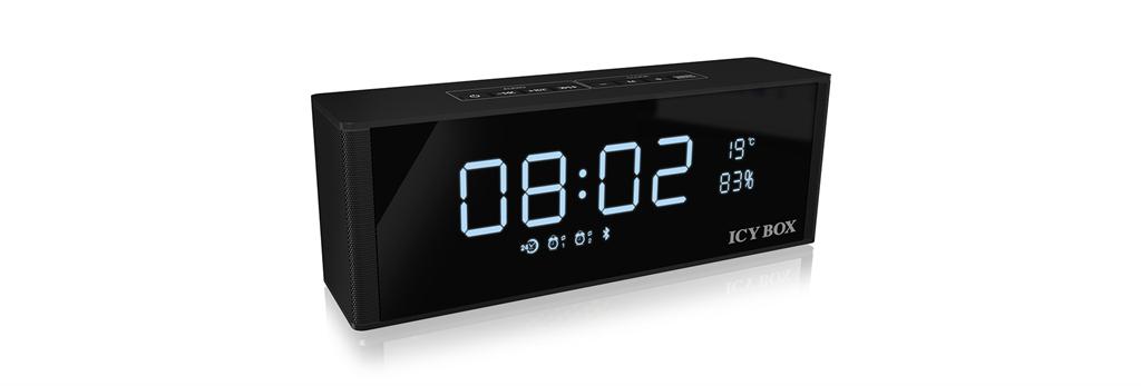 IcyBox Bluetooth FM radio, clock, alarm, speaker and MP3 Player