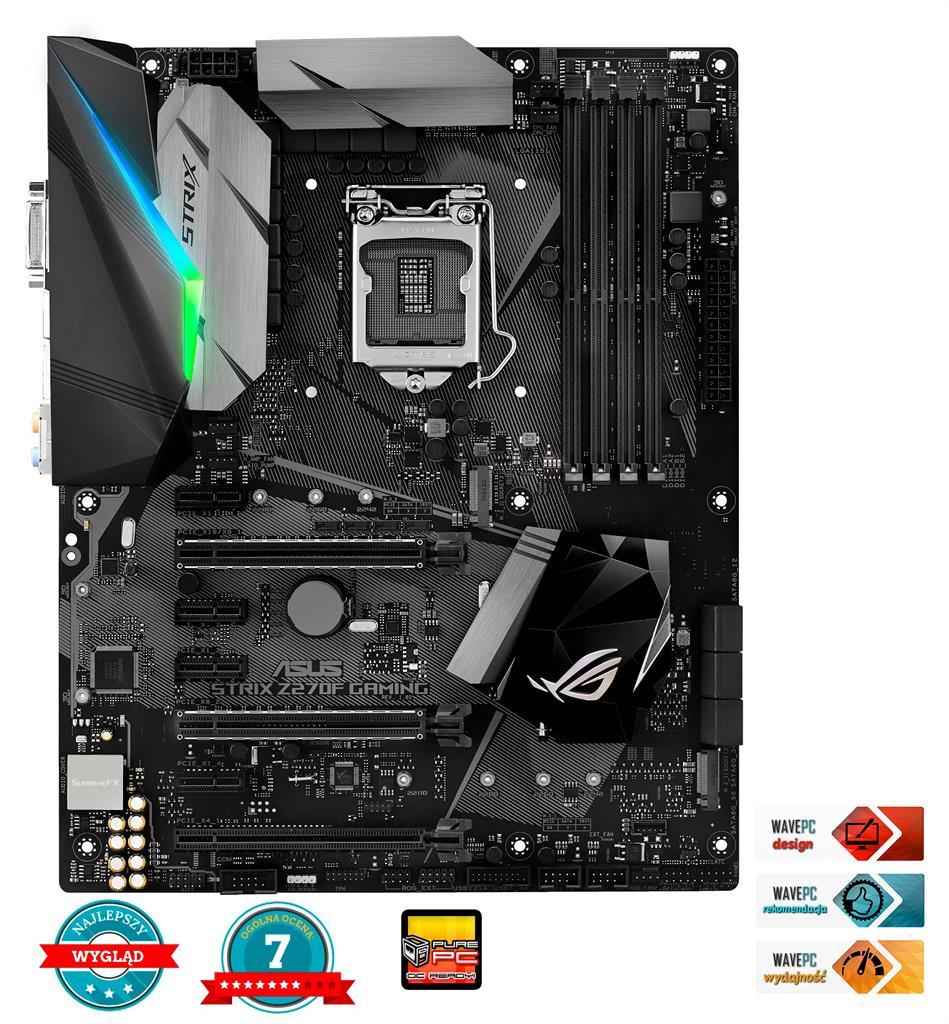 ASUS STRIX Z270F GAMING, Z270, LGA1151, ATX, 4xDDR4 3866MHz (OC)