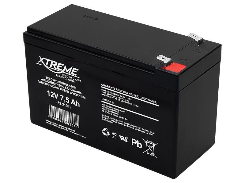 XTREME Nabíjecí gelová baterie 12V 7.5Ah