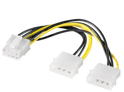 PREMIUMCORD Napájecí redukce 2x MOLEX PCI-e 8pin