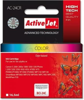 Ink ActiveJet AC-24CR   Kolor   16,5 ml   Canon BCI-24C