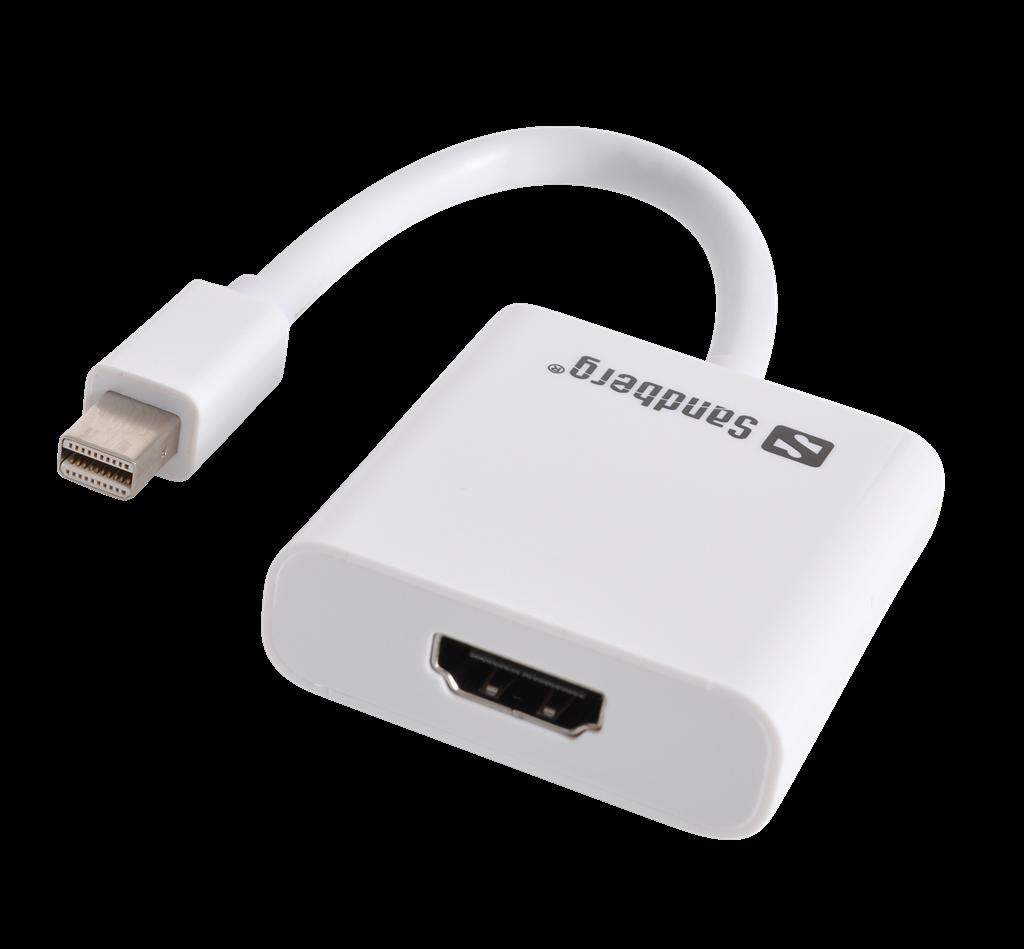 Sandberg adaptér Thunderbolt/Mini DisplayPort > HDMI, bílý