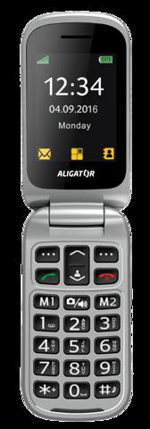 ALIGATOR V650 Senior černo-stříbrný + stolní nabíječka