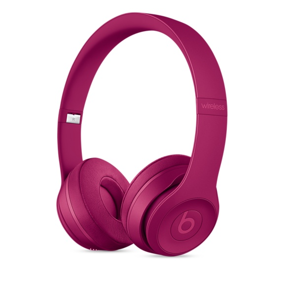Beats Solo3 Wireless On-Ear Headphones - Brick Red
