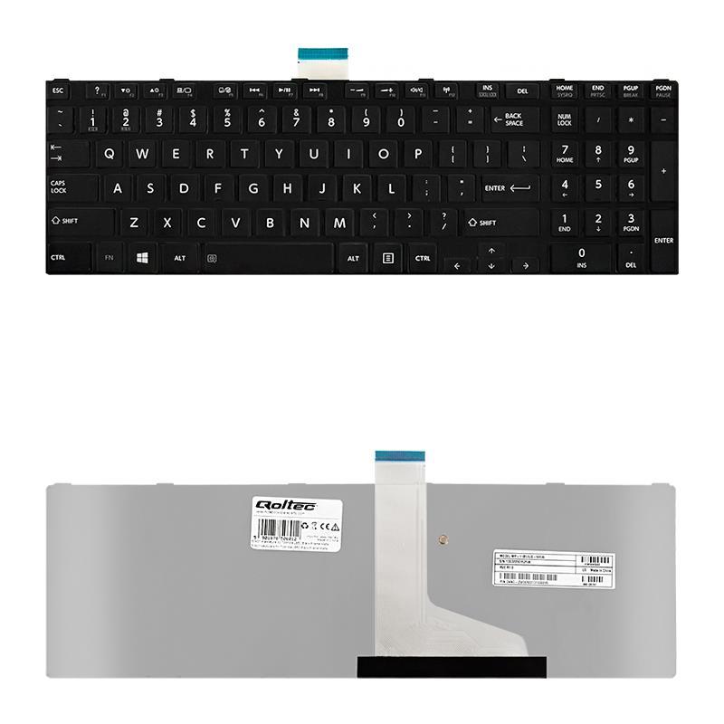 Qoltec Klávesnice pro notebook Toshiba L850 černá Frame Matte