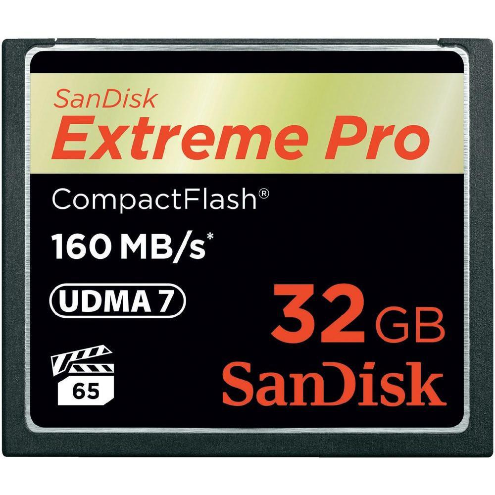 SanDisk Compact Flash Extreme karta 32GB (rychlost až 160MB/s)