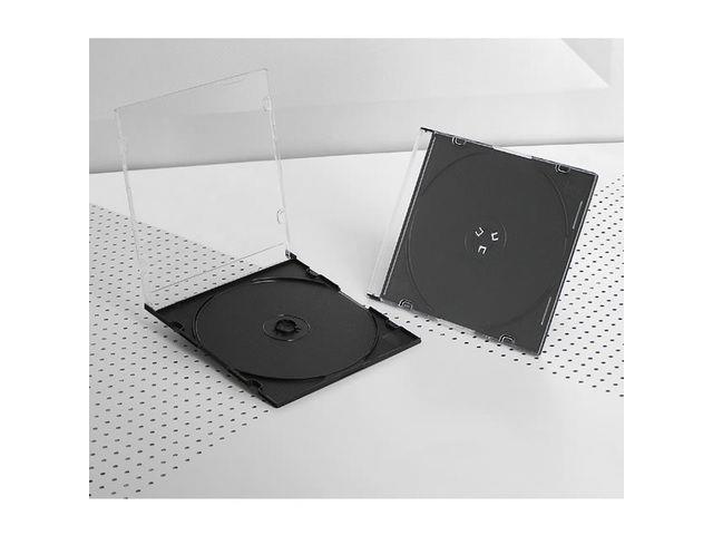 Intenso CD 1 obal tenký, černý, 200 ks