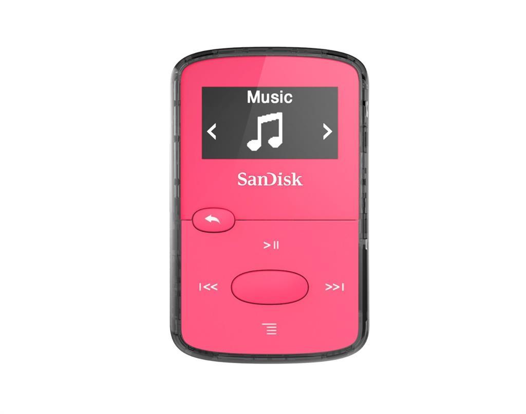 Sandisk CLip Jam MP3 přehrávač 8GB, microSDHC, Radio FM, růžový