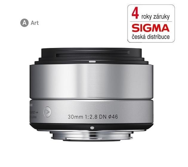 SIGMA 30/2.8 DN ART stříbrný OLYMPUS