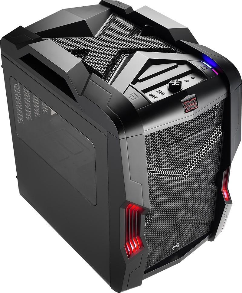 PC skříň Aerocool Micro-ATX STRIKE-X CUBE BLACK, USB 3.0, černá (bez zdroje)