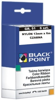 Ribbon Black Point KBPGR51CZ   Black   6 szt.   51-13mm*6m