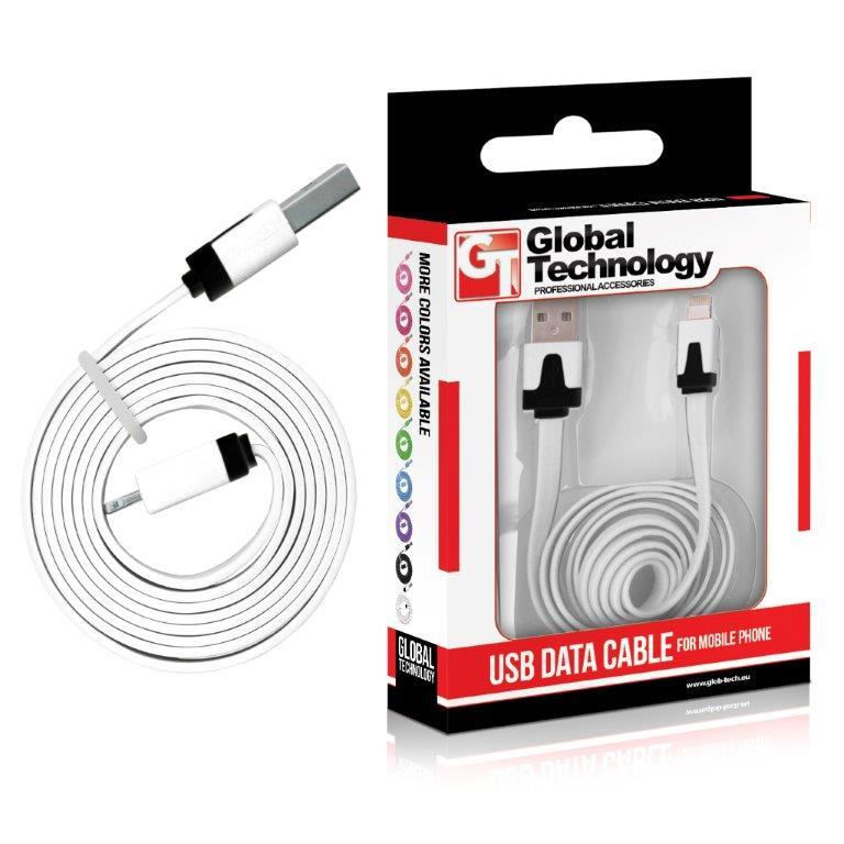 GT kabel USB pro iPhone 5 (8-pin) iOS7+, bílý