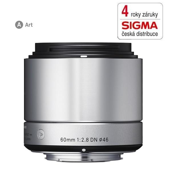 SIGMA 60/2.8 DN ART stříbrný OLYMPUS