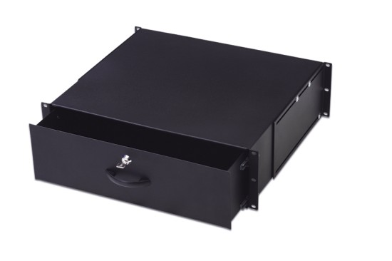 "Digitus 19"" uzamykatelný šuplík 3U barva černá RAL 9005"