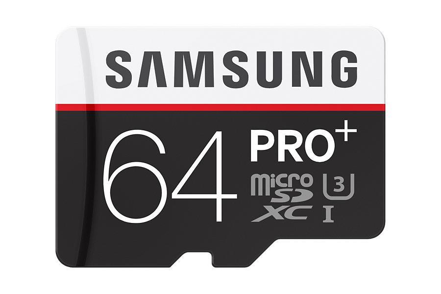 Samsung micro SDHC karta 64GB PRO Plus (Class 10 UHS-3) + SD adaptér